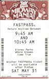 The rarely spotted Toy Story Mania! FastPass